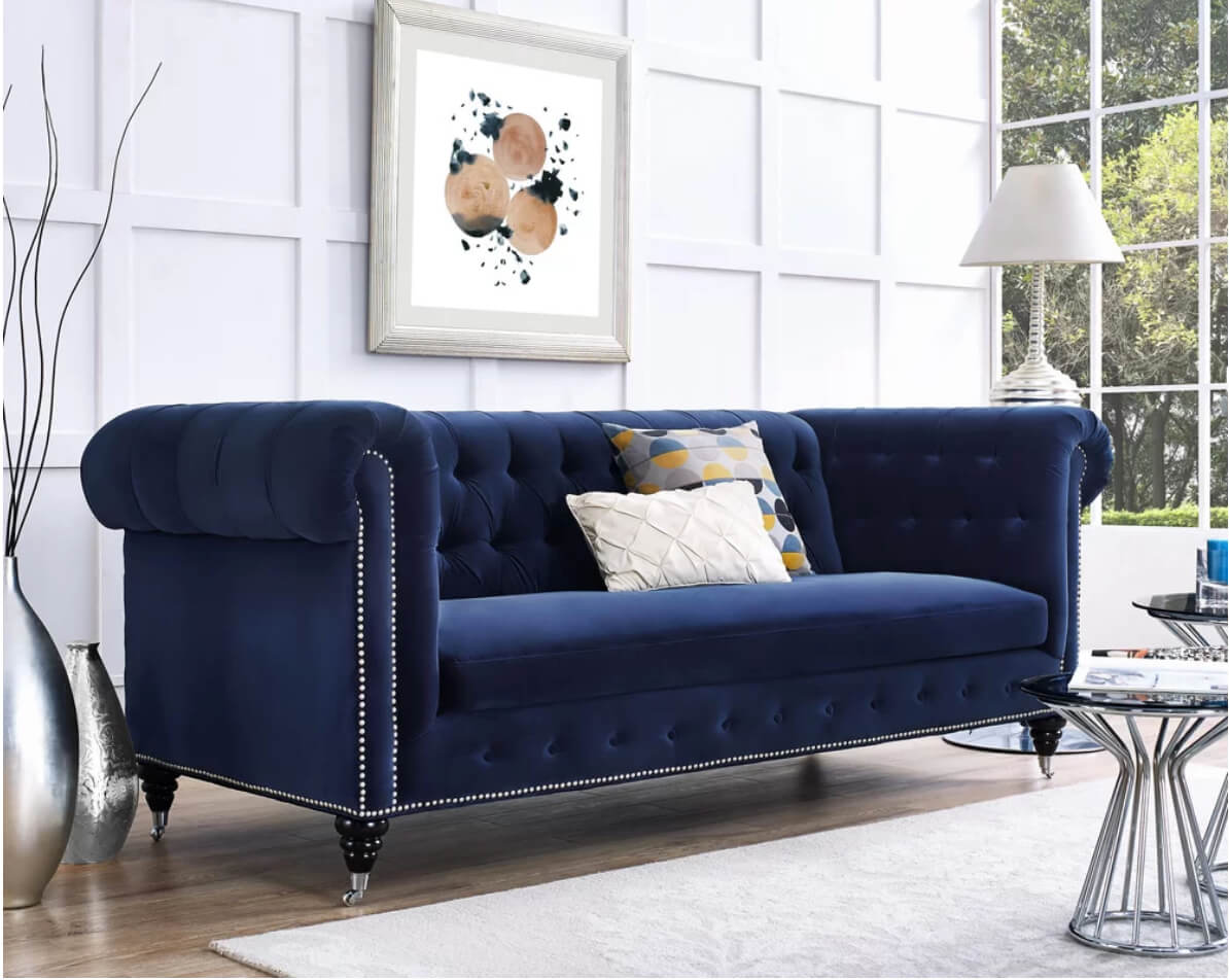 Sofa Set Color Blue 12 Dreamy Velvet Sofas You 39ll Love Freshome