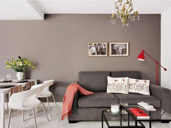 graue wand streich idee für kleines wohnzimmer gestaltung - fresHouse - esszimmer graue wand