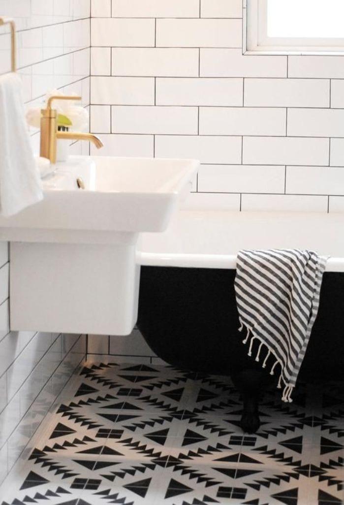 badezimmer-schwarz-weiß-badezimmer-fliesen-in-weiß-und-schwarzjpg - schwarz wei fliesen bad