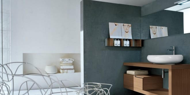 farbgestaltung badezimmer-wandfarbe grau - fresHouse - badezimmer farbgestaltung