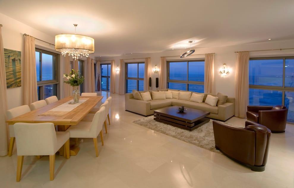 luxus wohnzimmer als wohn esszimmer - fresHouse - wohnzimmer esszimmer ideen