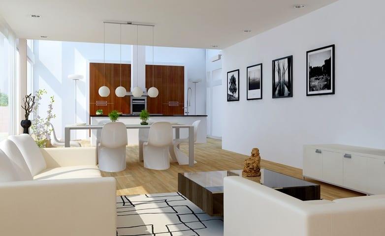 luxus wohnzimmer weiß-ideen für wohn esszimmer - fresHouse - wohnzimmer esszimmer ideen