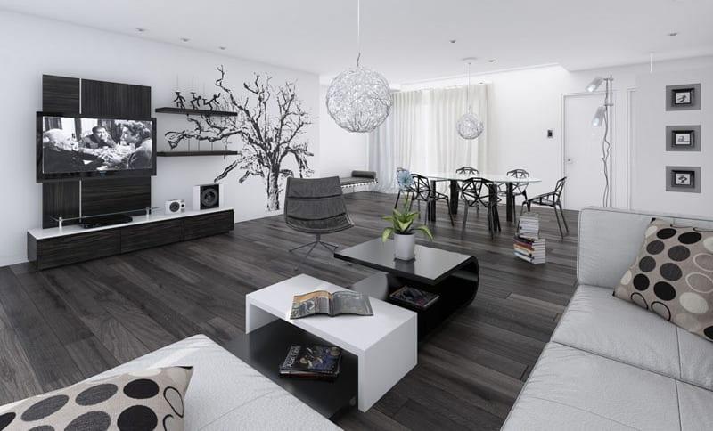 Luxus Wohnzimmer - 33 Wohn-Esszimmer Ideen - fresHouse - wohn und esszimmer modern