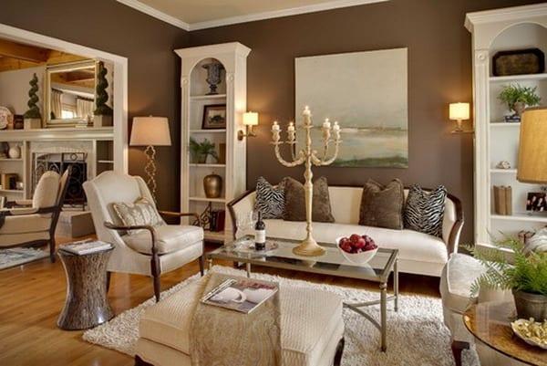 wohnzimmer-braun-inspirationenjpg (600×401) SHABBY CHIC - wohnzimmer design weiss