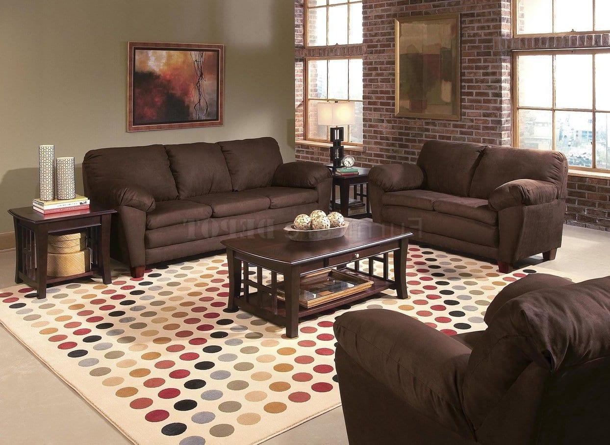 Farbgestaltung Wohnzimmer Braunes Sofa