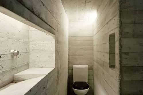 Extreme Gestaltung Eines Badezimmers Aus Beton Kleine Badezimmer Badezimmer  Beton