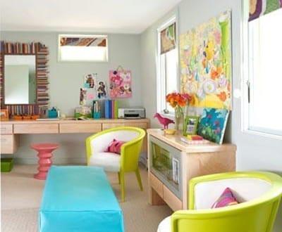 fantastische zimmergestaltung in grün und blau-cooles interior - kinderzimmer blau mdchen