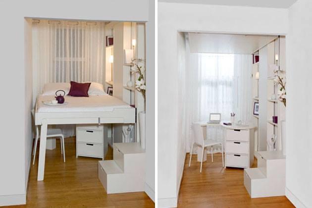 kleine-schlafzimmer-inspiration-mit-schiebbarem-quinsize-bettjpg - wohn und schlafzimmer