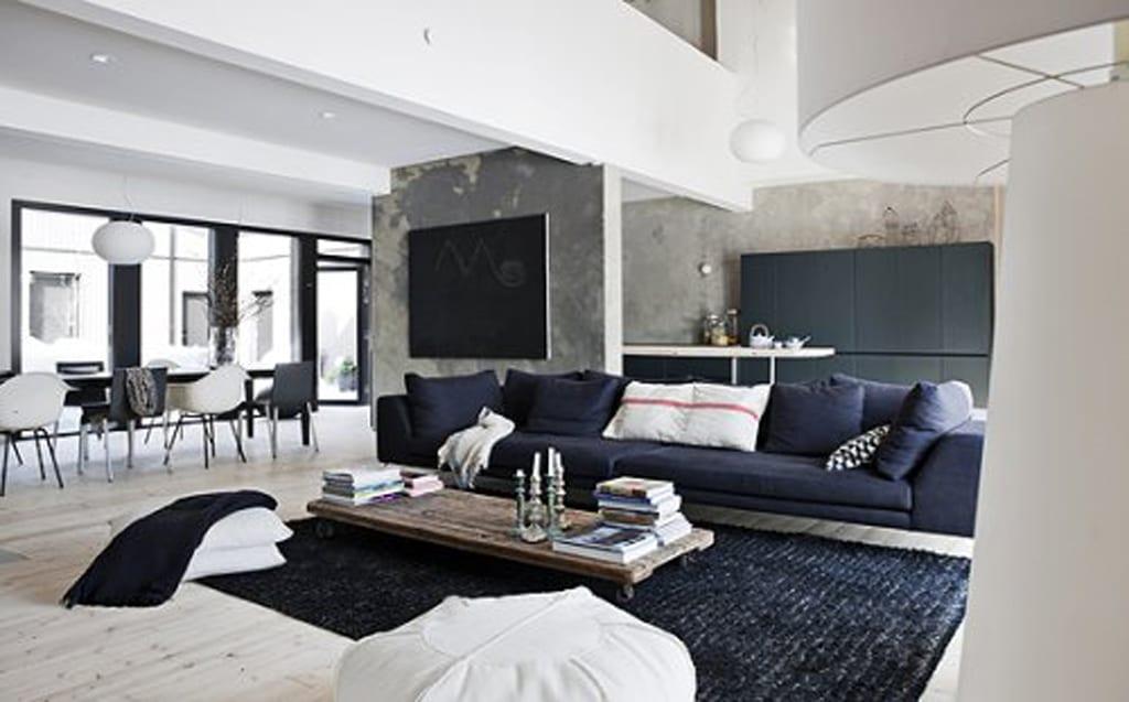 schwarz weiße wohnzimmer ideen - fresHouse - gestaltungsideen wohnzimmer