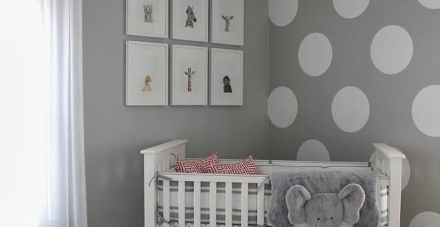 Schlafzimmer Streichen Ideen Braun  Wandfarbe Grau Und Wand Streichen Muster Wei223;e Punkte F252;r