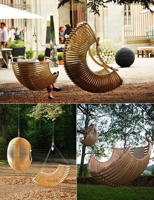 kreative Gartengestaltung mit Hängesessel Korb BA inspiration - hangesessel korb rattan