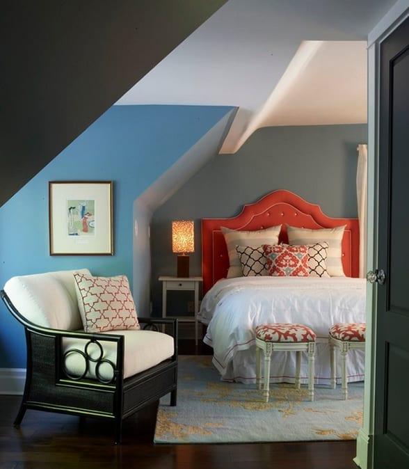 Schlafzimmer mit Dachschräge gemütlich gestalten - fresHouse - dekoration farbe fur dachschragen