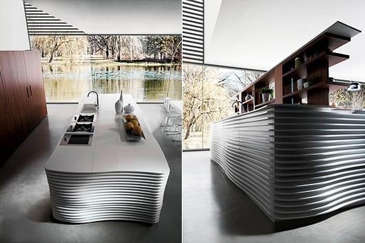 Schön Eine Moderne Kochinsel Für Luxuriöse Küchen   FresHouse   Designer Kuche  Baumstamm Beton