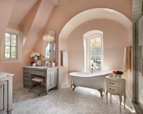 badezimmer farbgestaltung mit wandfarbe hellrosa für optische - badezimmer farbgestaltung