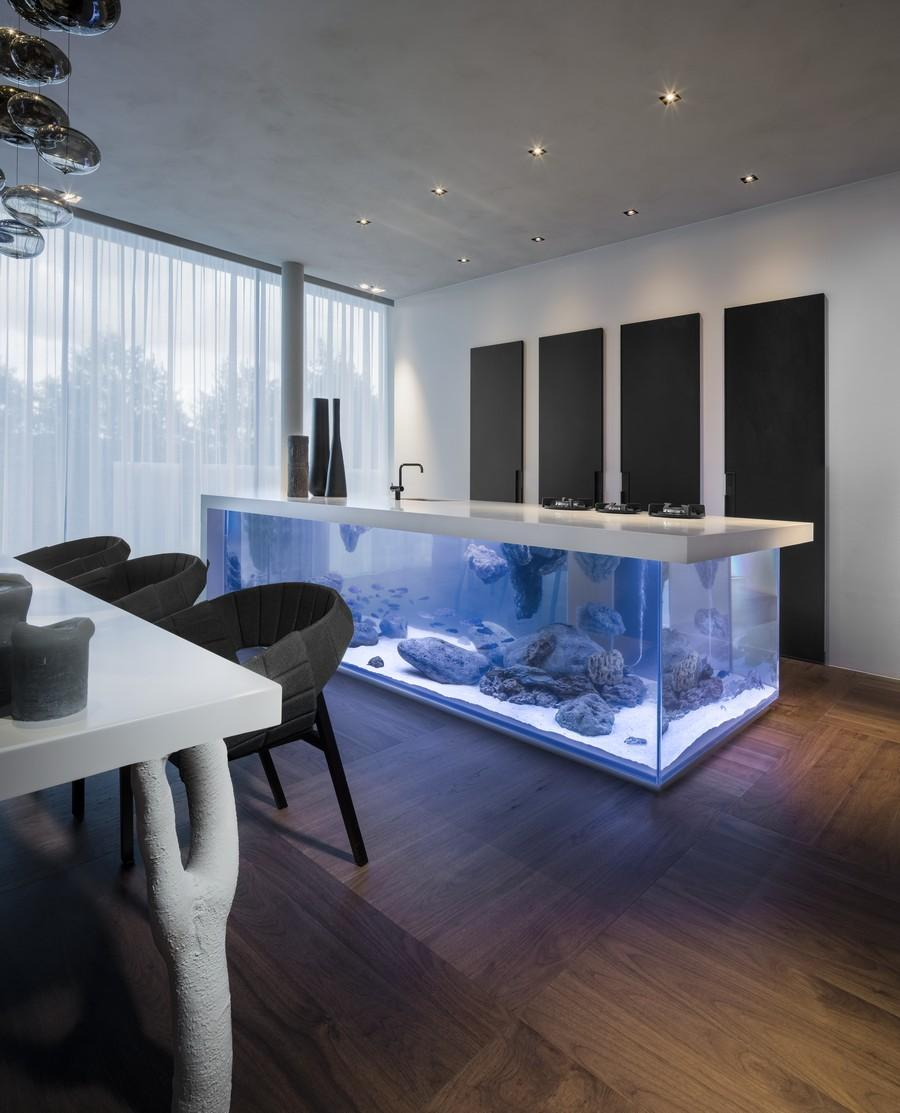 Küche Kochinsel Modern Moderne Aquarium Kochinsel Für Luxuriöse Küche Freshouse