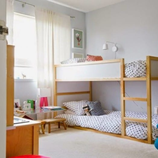 Kleines Kinderzimmer mit Hoch- oder Etagenbett einrichten - fresHouse - wie kinderzimmer einrichten