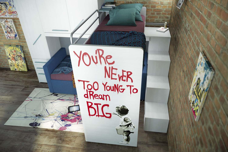 Kleines Etagenbett : Kleines kinderzimmer mit hoch oder etagenbett einrichten freshouse