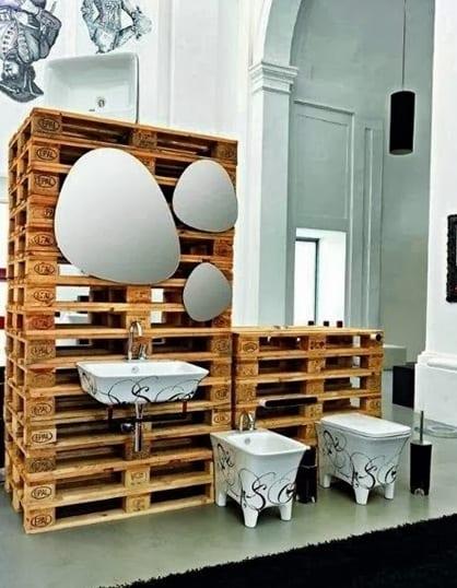 europaletten bauen_coole badezimmer einrichtung und moebel aus - badezimmereinrichtung