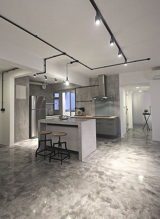 K che wei holz beton wandregale f r moderne for Moderne wandregale wohnzimmer