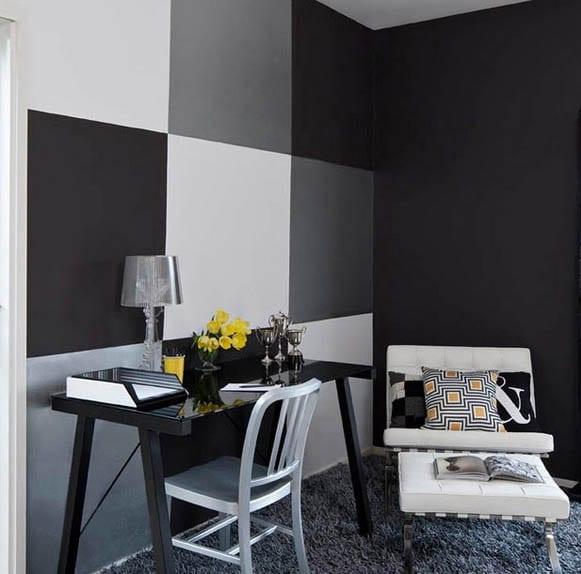 Schwarze Wände - 48 Wohnideen für moderne Raumgestaltung - fresHouse - wohnzimmer ideen schwarz weiss grau
