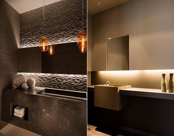 bad-modern-gestalten-mit-licht-und-3d-Wandpaneelen_moderne - badezimmer modern gestalten