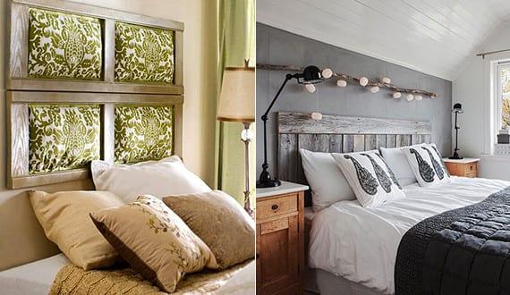 schlafzimmer-ideen-wandgestaltung-und-für-bett-kopfteil-selber - gestaltung schlafzimmer ideen