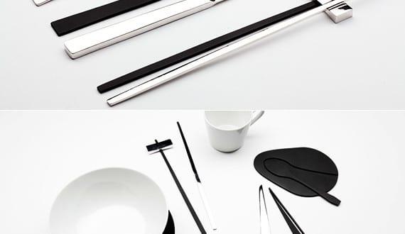 tisch-decken-mit-modernem-besteck-set-trace-shadow-von-kijtanes - tisch decken mit modernem besteck