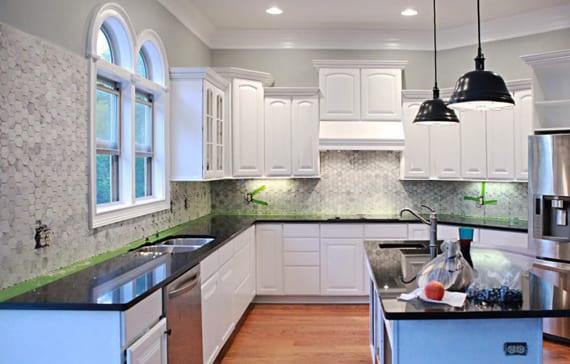 Klebefolie Küche Fliesenspiegel | Moderne Glas ...