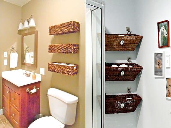 Bad in Ordnung halten Hand- und Badetücher organisieren - fresHouse - badezimmer do it yourself