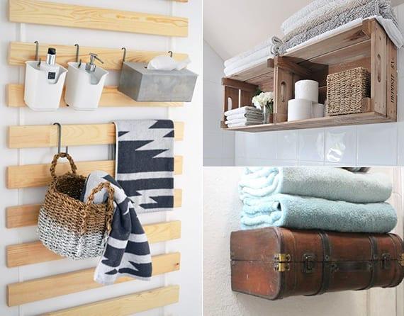 Badezimmer Regal Handtücher