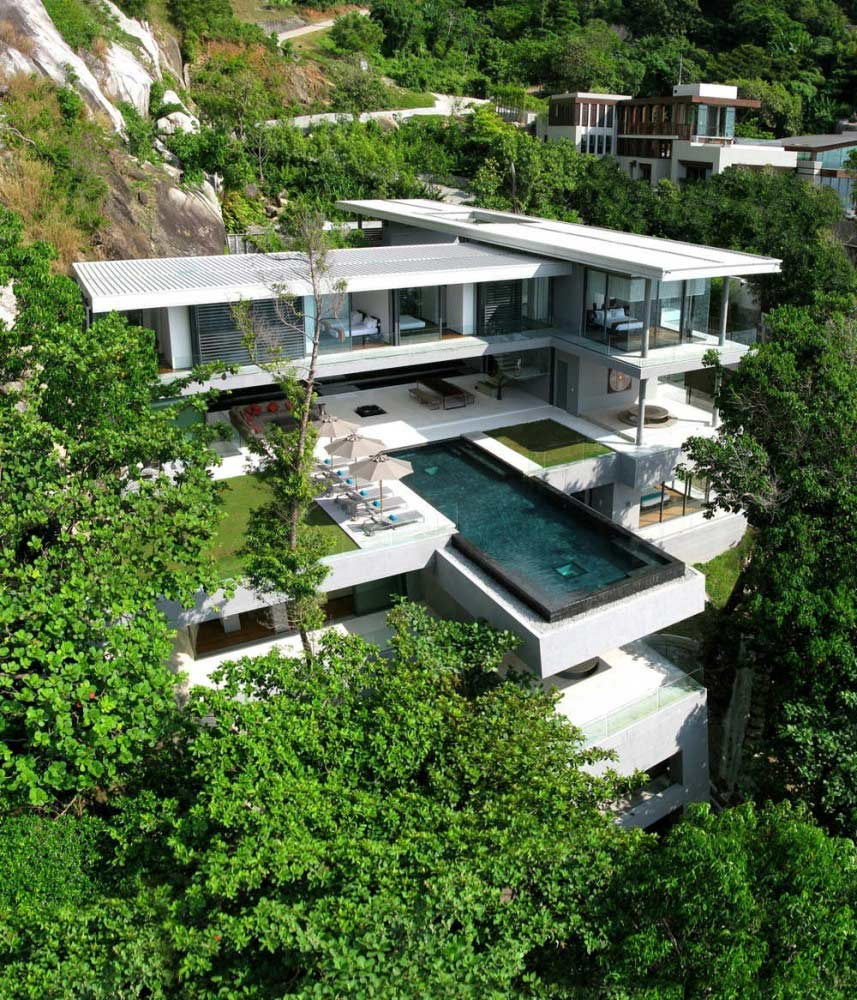Pool Bauen In Thailand Villa Amanzi Perched On A Cliff Edge In Phuket Thailand