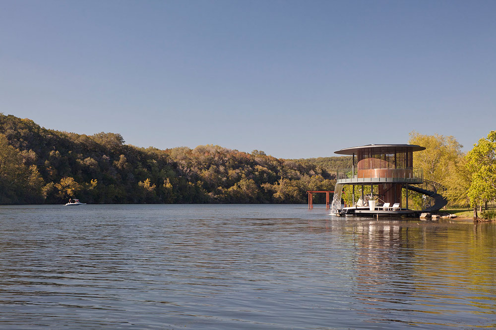 Modern Style Apartments Shore Vista Boat House, Lake Austin, Texas By Bercy Chen