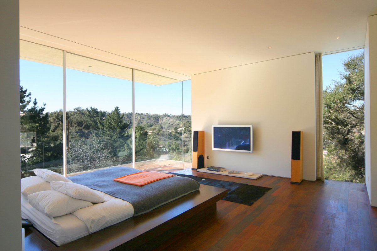 Modern Bedroom Walls Bedroom Glass Walls Modern Residence In Beverly Hills