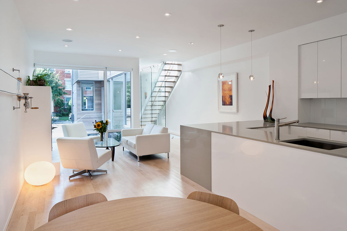 Wohnzimmer Küche 30m2 Narrow Home In Ottawa By Rick Shean