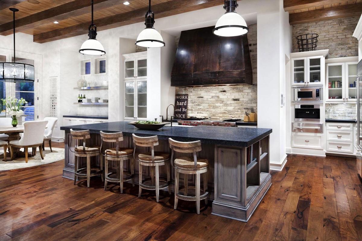 kitchen island breakfast bar hill country modern austin texas white kitchen beams white kitchen beamed ceiling home styles nantucket