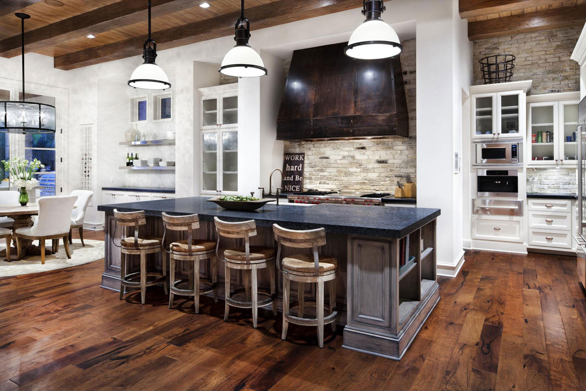 Rustic White Kitchen Island Hill Country Modern In Austin, Texas By Jauregui Architects