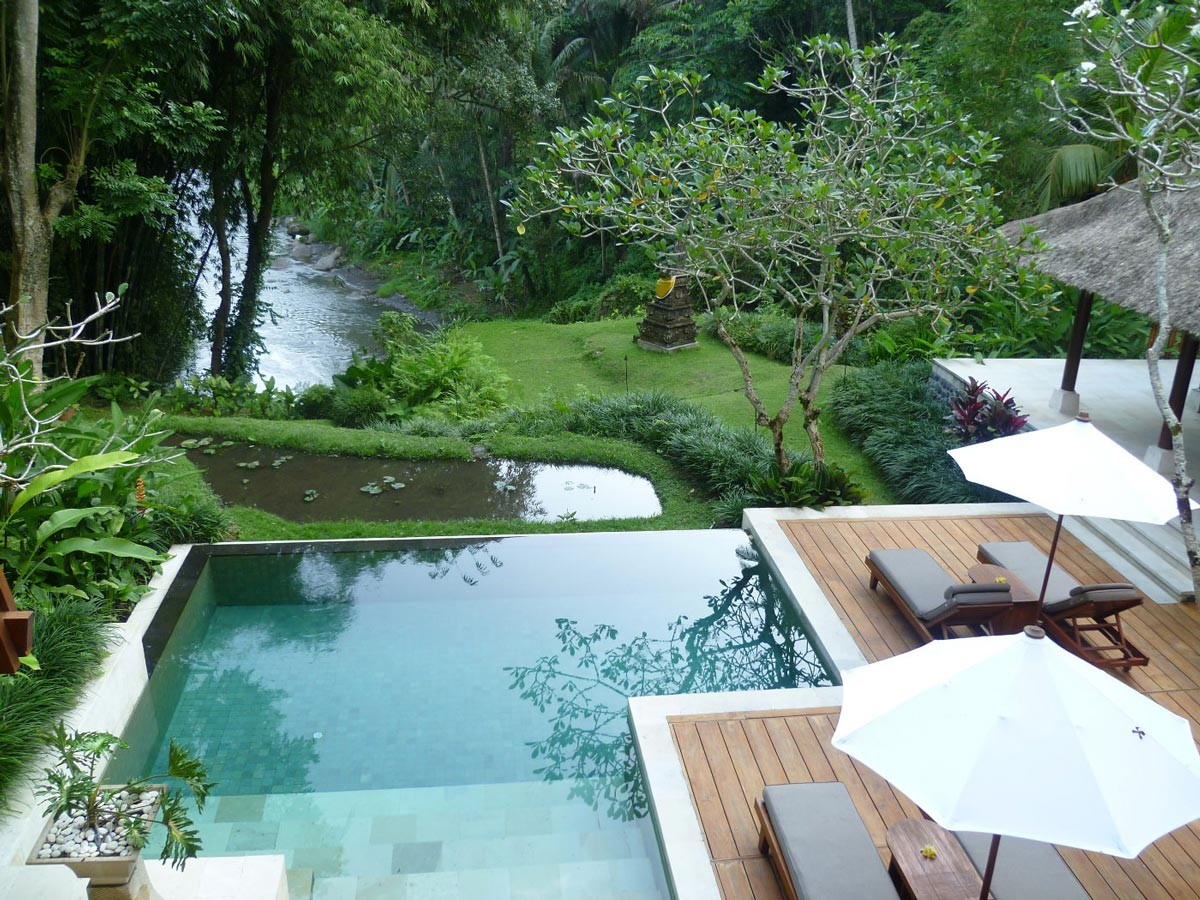 Pool Im Garten Hanglage Four Seasons Resort In Sayan Bali
