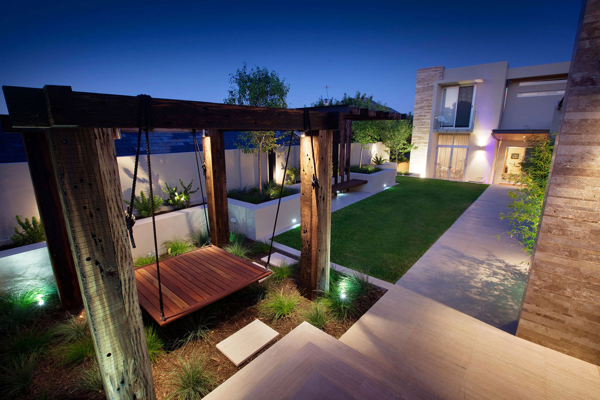Arte De Mexico Beds Stunning Outdoor Living Area Bicton House In Perth Australia