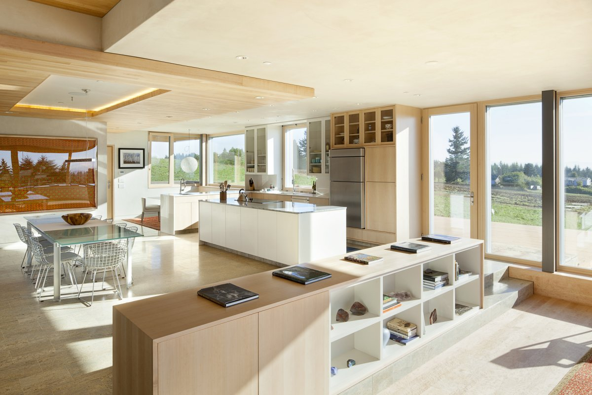 dining space open plan living sustainable house newberg oregon open plan home oomph