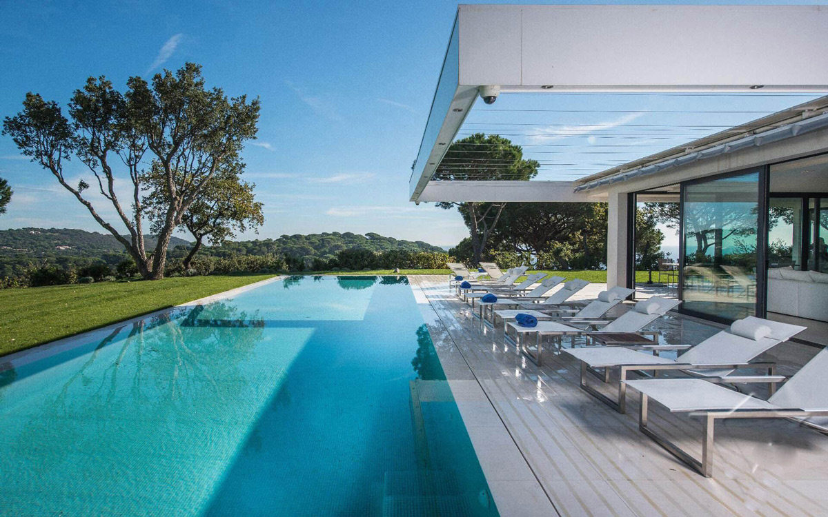 Luxury Holiday Villa With Pool Pool Terrace Veranda Luxury Holiday Villa In Saint Tropez