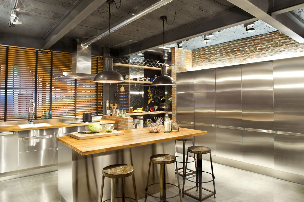 Küche Loft Style Commercial Space Turned Into A Loft Style Home In Terrassa