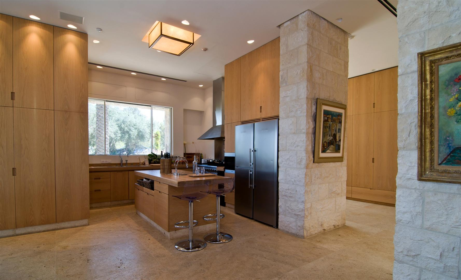 Contemporary Bathroom Design Kitchen Island, Breakfast Bar, Contemporary Stone House In