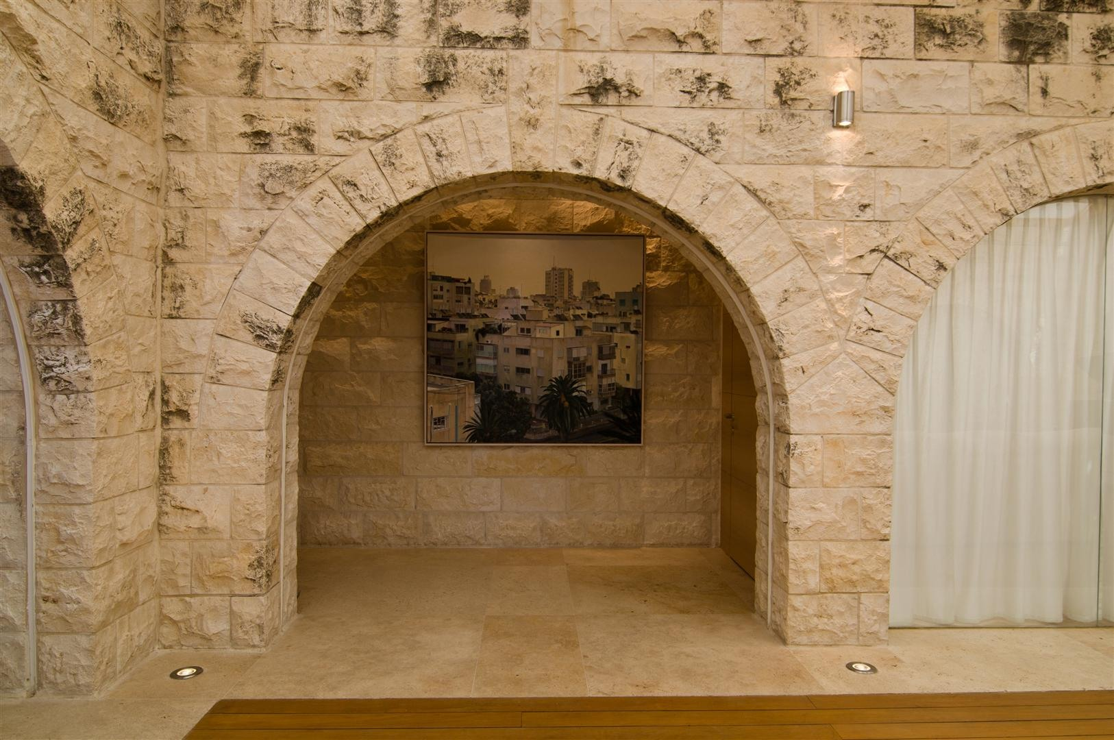 Contemporary Kitchen Stone Arches, Art, Contemporary Stone House In Jerusalem