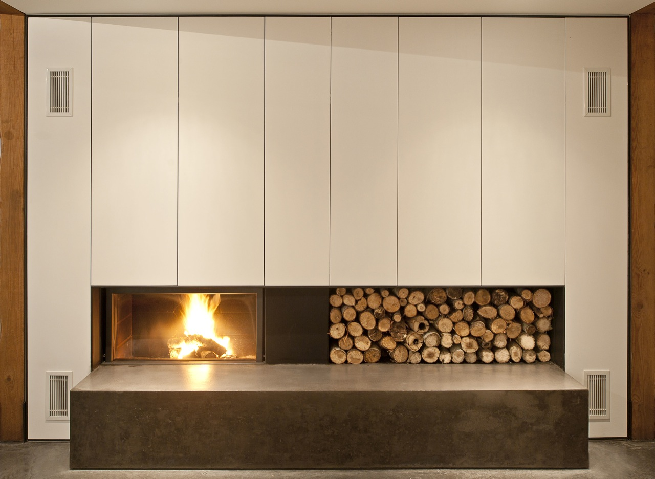 Contemporary Bathroom Design Contemporary Fireplace, Wood Store, House In Prospect