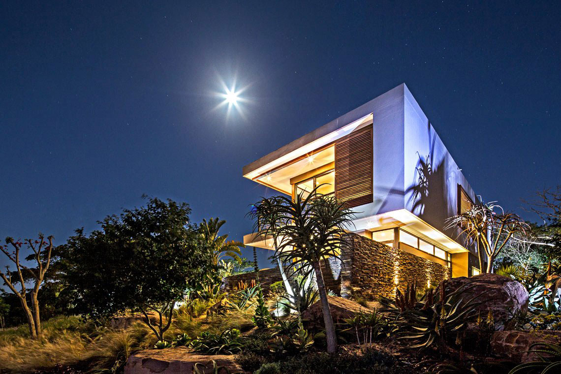 Eclairage Architectural Exterieur Exquisite Contemporary Residence In Kwazulu-natal, South