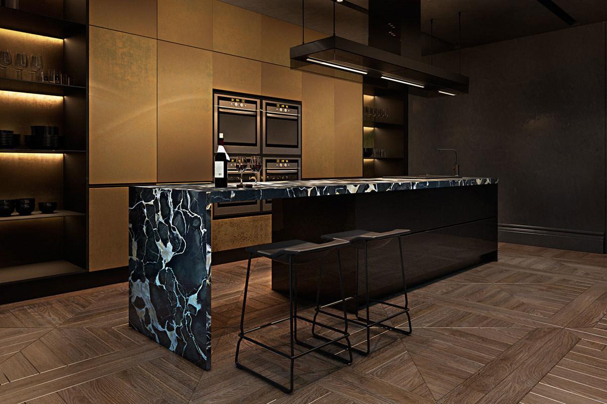 sophisticated apartment paris beautiful kitchen island photos decobizz