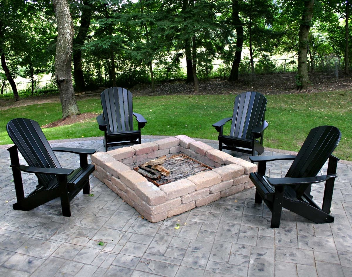Plastic Roof For Patio Magical Outdoor Fire Pit Seating Ideas & Area Designs
