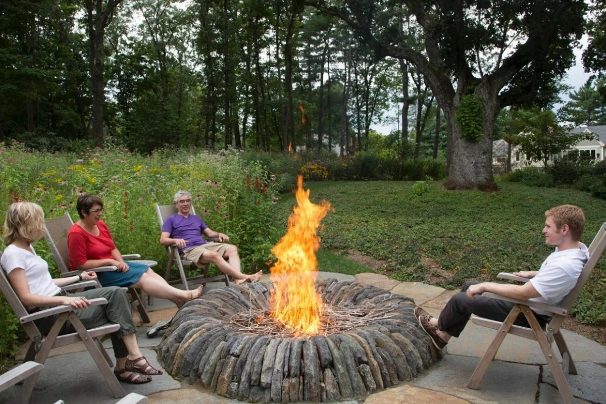 Patio Fire Pit Ideas Magical Outdoor Fire Pit Seating Ideas Area Designs