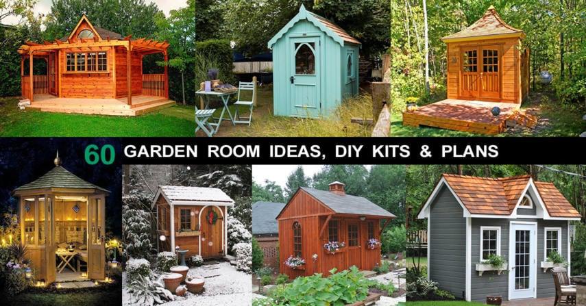 Diy Garden Design Ideas 60 Garden Room Ideas & DIY Kits for She Cave (Sheds ...
