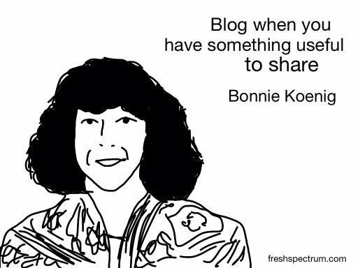 Bonnie Koenig Advice